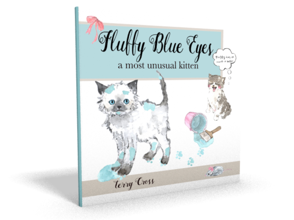 Fluffy Blue Eyes Children's Book Puppy Diva