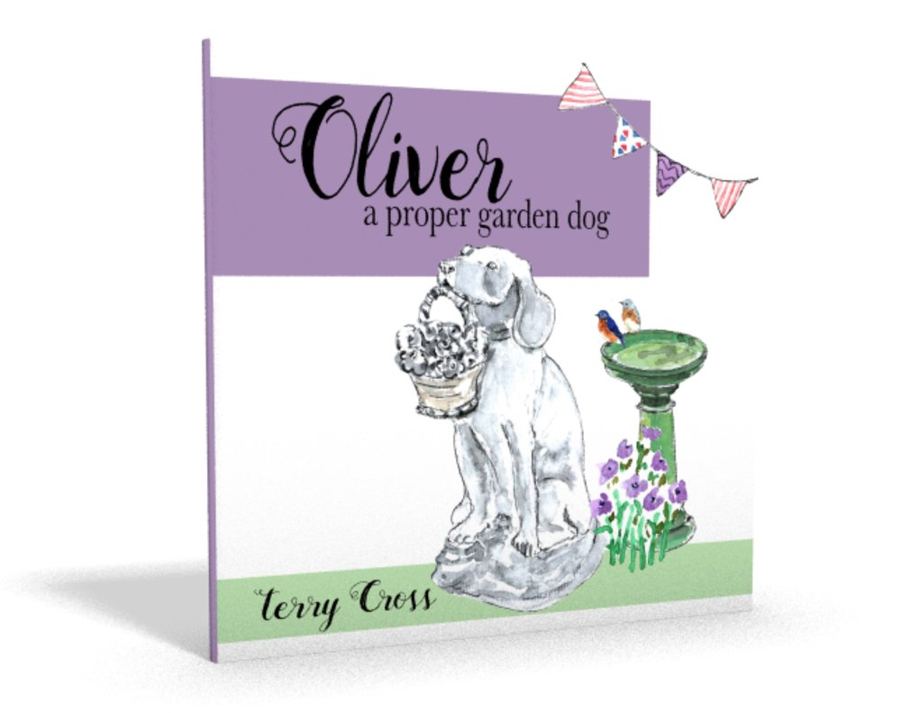 Oliver A Proper Garden Dog Children's Book Terry Cross