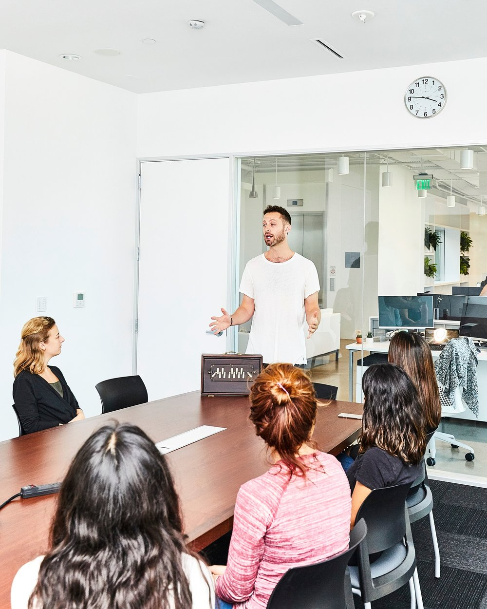 Jesse also offers corporate meditation sessions and courses -