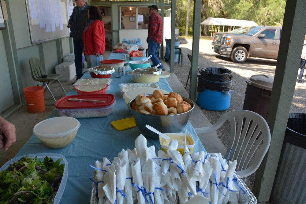 The great spread of food during the Round Robin