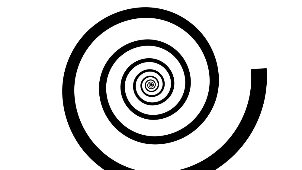1. I started by drawing a basic spiral digitally in After Effects.