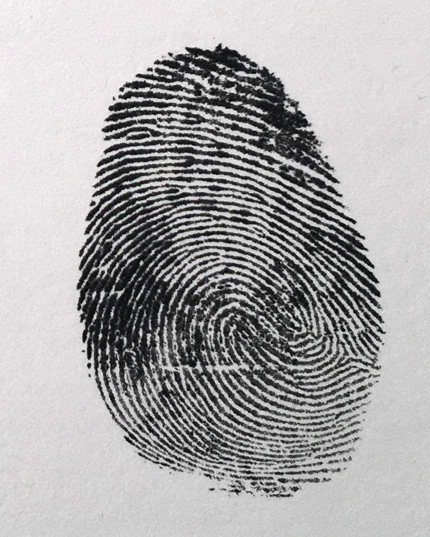 This is the fingerprint I ended up using. A little blotchy but it was a good start.