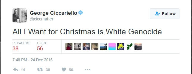 George Ciccariello-Maher white genocide