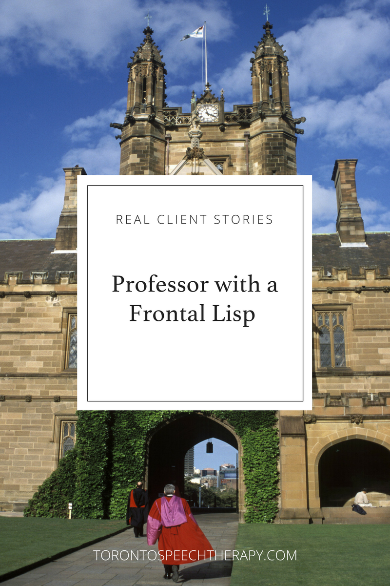 Professor with a Frontal Lisp attends speech therapy