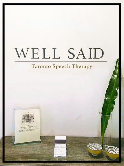 At Well Said: Toronto Speech Therapy, we provide assessment, treatment and consultative services for adults around speech, lisps, accent modification, voice therapy, voice therapy for singers, professional communication, academic communication, transgender voice therapy (FTM, MTF), stuttering speech therapy, and social skills therapy for ADHD and High Functioning Asperger's. This is our blog.