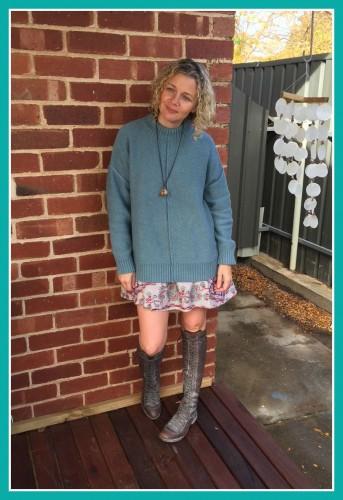 Short dress and Jumper May 2015