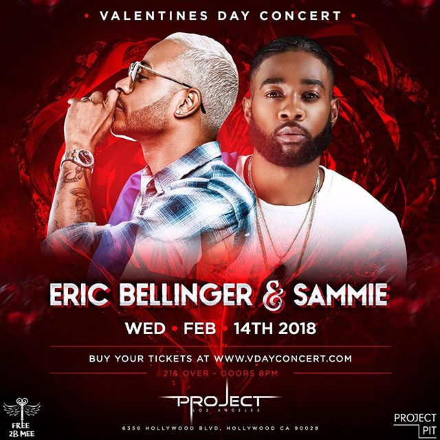 ‼️TAG YOUR LOVER & FRIENDS‼️ Valentines Day Concert with @EricBellinger & @sammiealways! Tickets will sell out, gets your today! www.VdayConcert.com