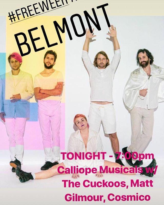 #austin #freeweek starts tonight! 7pm at @thebelmont  @calliopemusicals @thecuckoos @themattgilmourband @cosmicoband