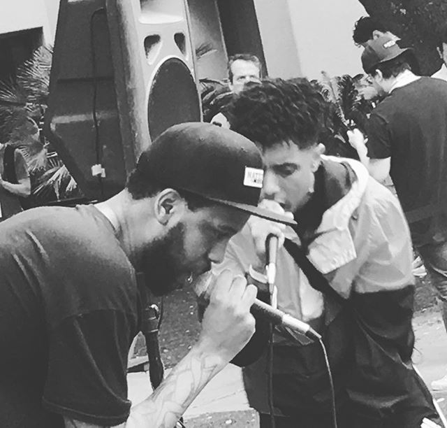 @phranchyze and @zeale getting work done. Pop up at Four Seasons. @blackillacmusic is where it's at. Right now. #sxsw #atxtakeover #austin #hiphop #sxsw2019