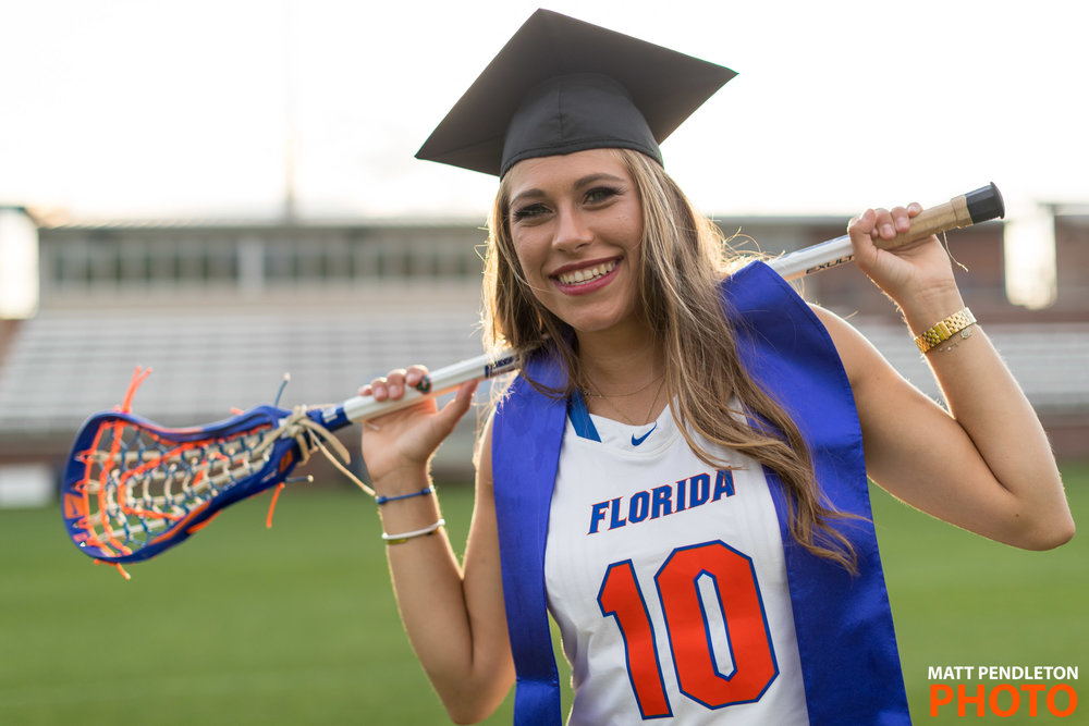 Grad photo session featuring Carli Marsh on Sunday, April 23, 2017 at Ben Hill Griffin Stadium in Gainesville, FL / Photo by Matt Pendleton for Matt Pendleton Photography (mattpendleton.com)