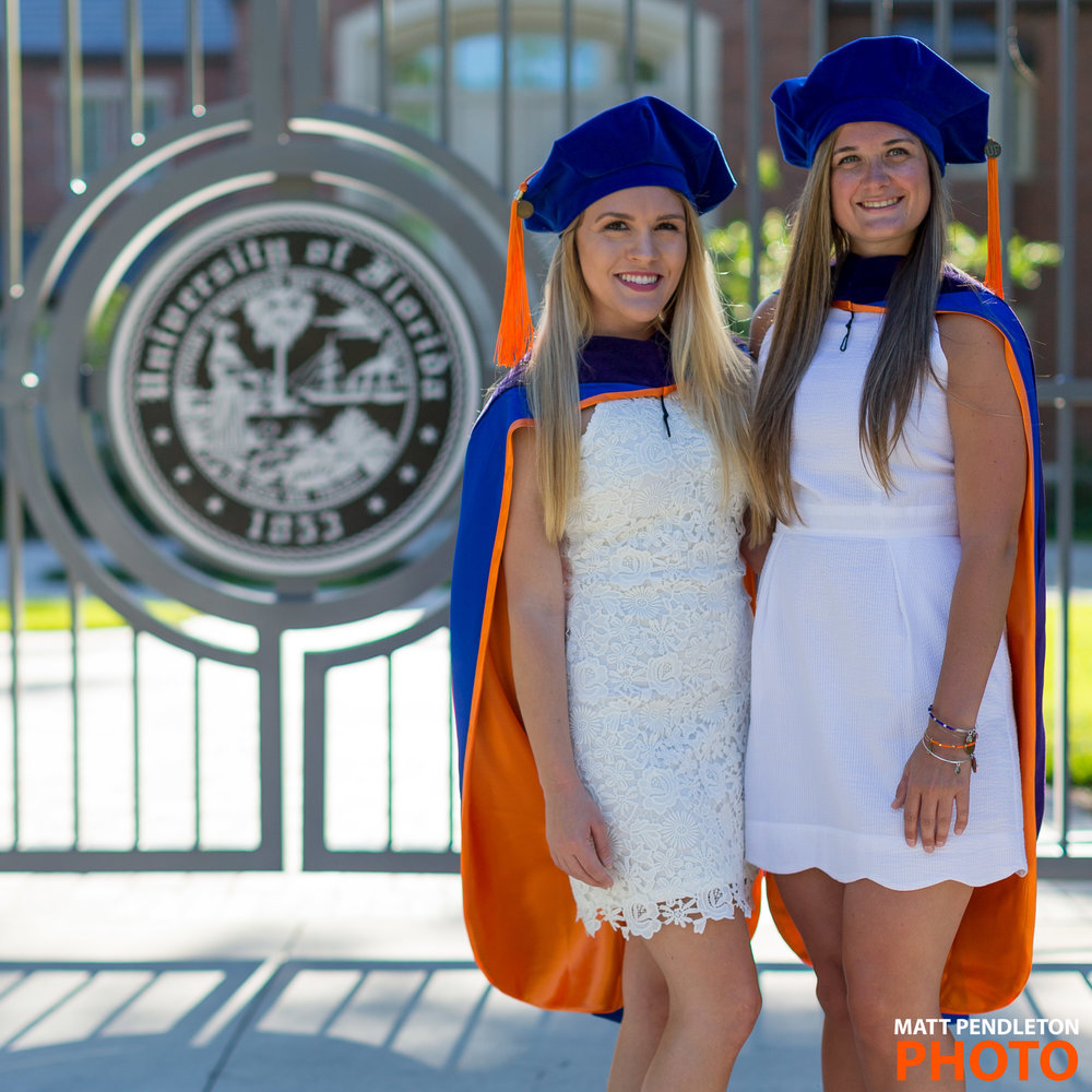 Grad photo group session featuring Marlana Kulig and Joleen East on Monday, May 8, 2017 at Levin College of Law in Gainesville, FL / Photo by Matt Pendleton for Matt Pendleton Photography (mattpendleton.com)