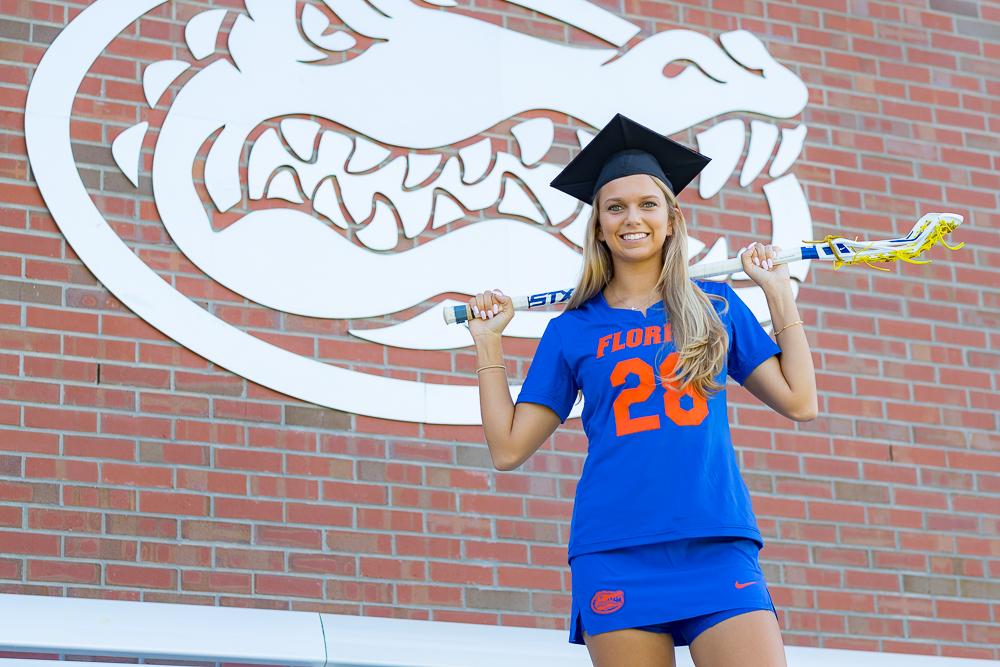 Grad photo session featuring Morgan Bracken on Tuesday, August 7, 2018 at Ben Hill Griffin Stadium in Gainesville, FL / Photo by Matt Pendleton for Matt Pendleton Photography.