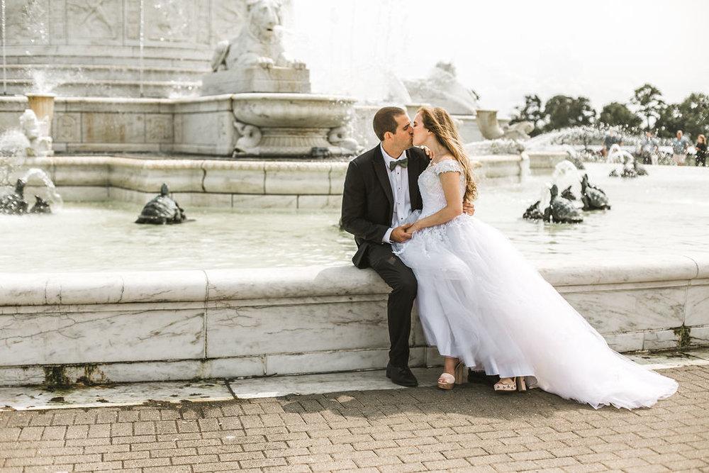 belle isle wedding fountain
