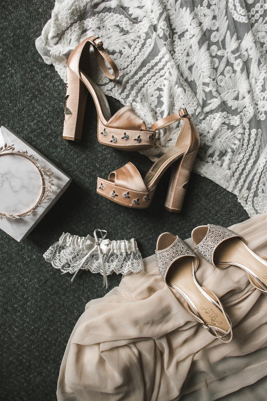 floral wedding shoes lace gown