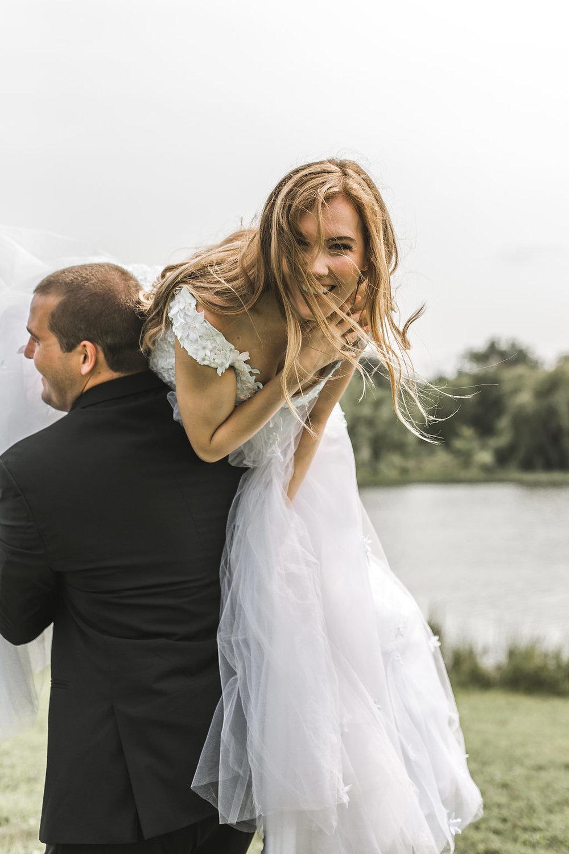 belle isle wedding bride and groom