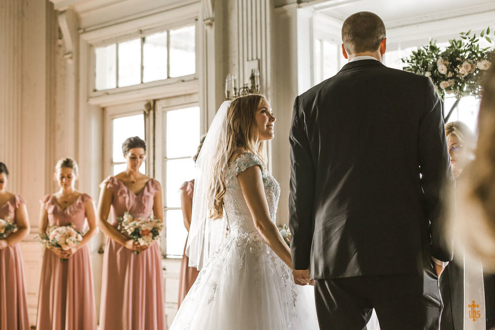 belle isle boathouse wedding ceremony