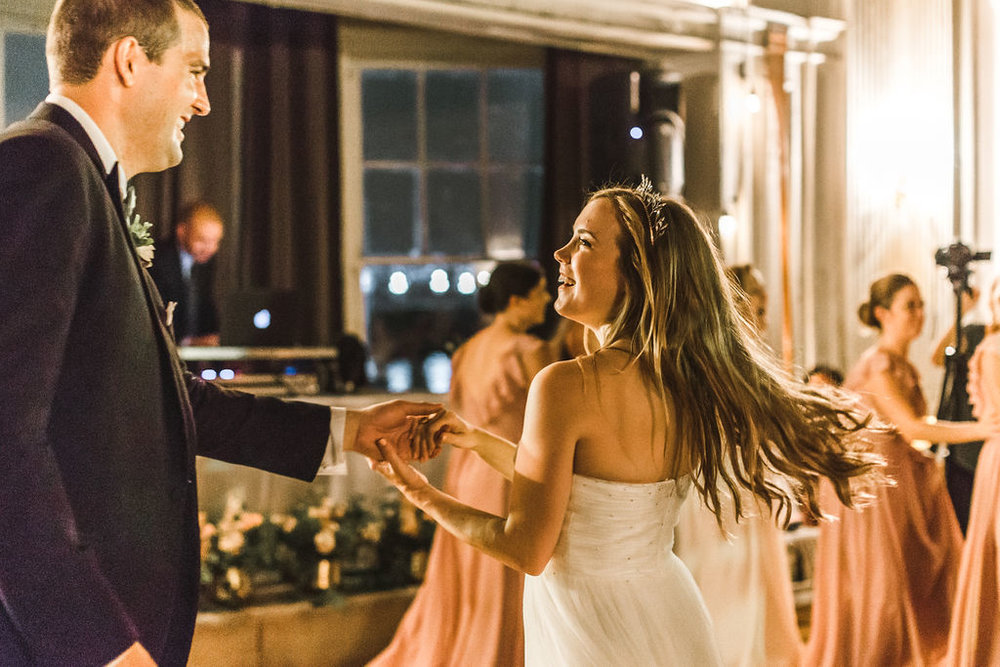 When the Bride is having the most fun of everyone on her wedding day, you know she planned something right. Bridget twirled, laughed and loved all day and night.