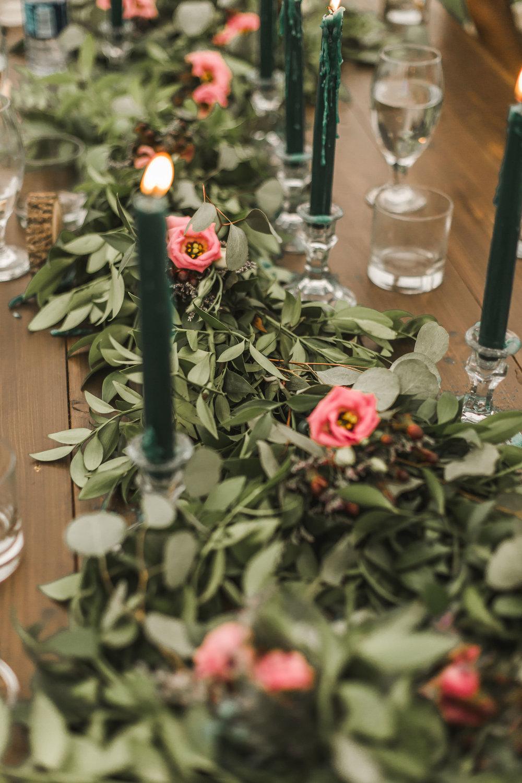 Eucalyptus wedding table setting