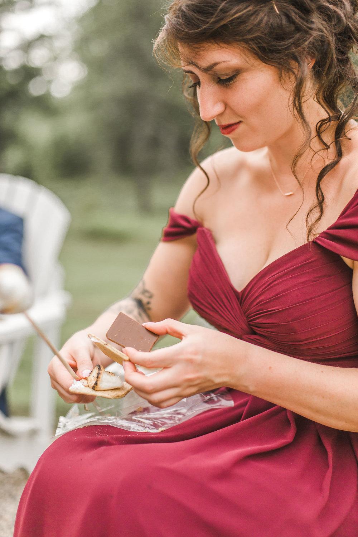 S'mores wedding reception