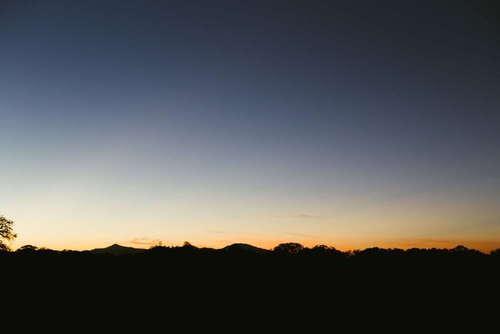 California mountain sunset