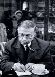 Jean Paul Sartre in Cafe.jpg