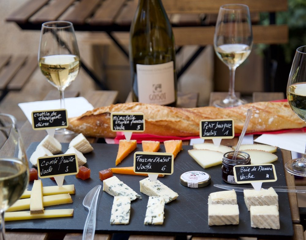 Cheese tasting at the