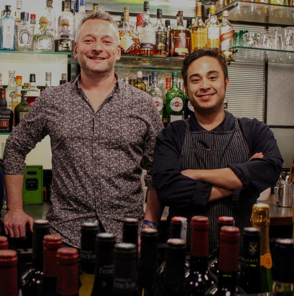 Alex Kovac and Chef Davide Galloni