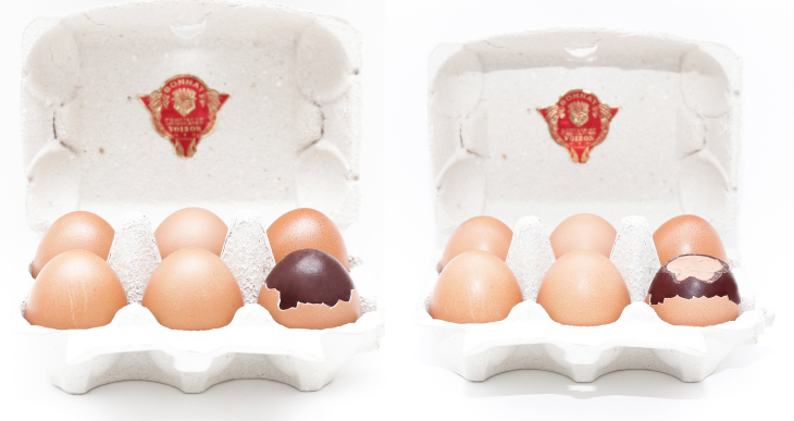 Box of 6 praline eggs by Maison Bonnat – 48€ - Image courtesy of Maria Spera