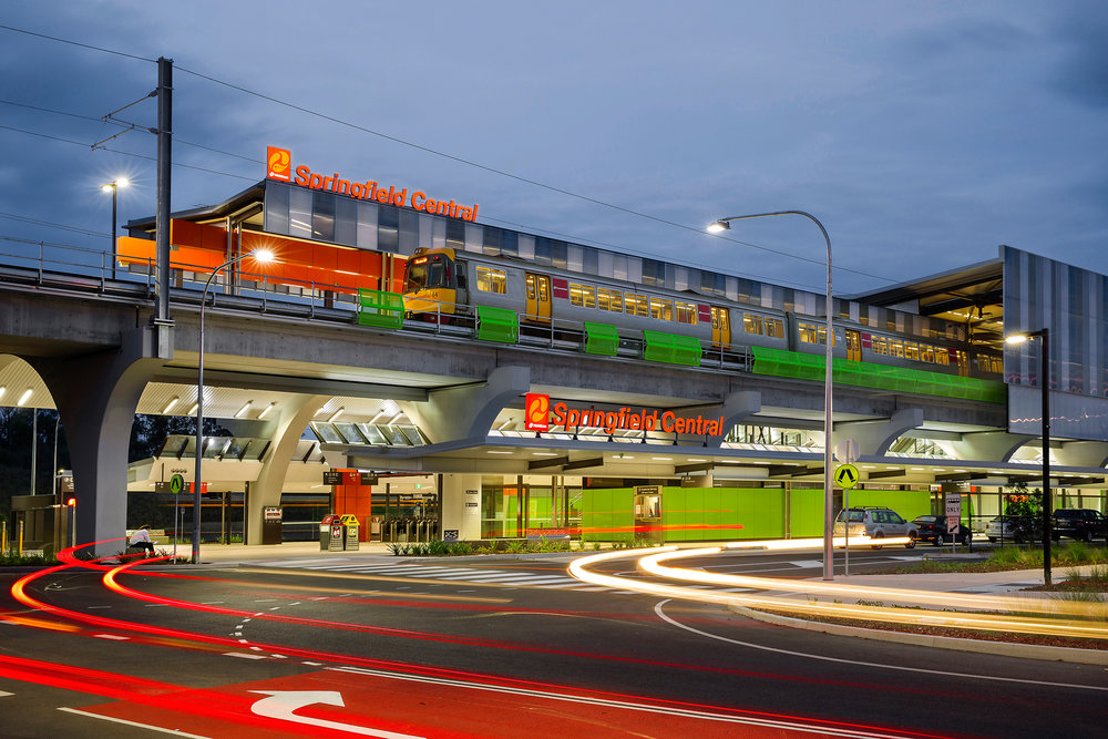 The award-winning image of Springfield Central Station. Client: La Vie Property Solutions.