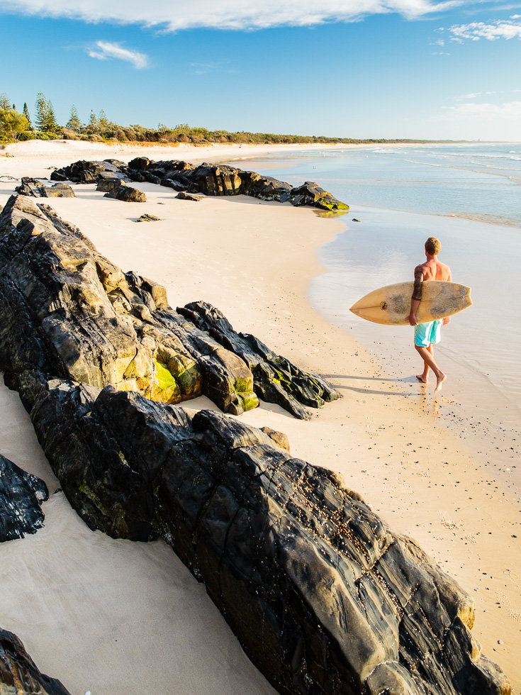 Surfing lifestyle photography at Cabarita Beach on the Tweed Coast in northern NSW, Australia.