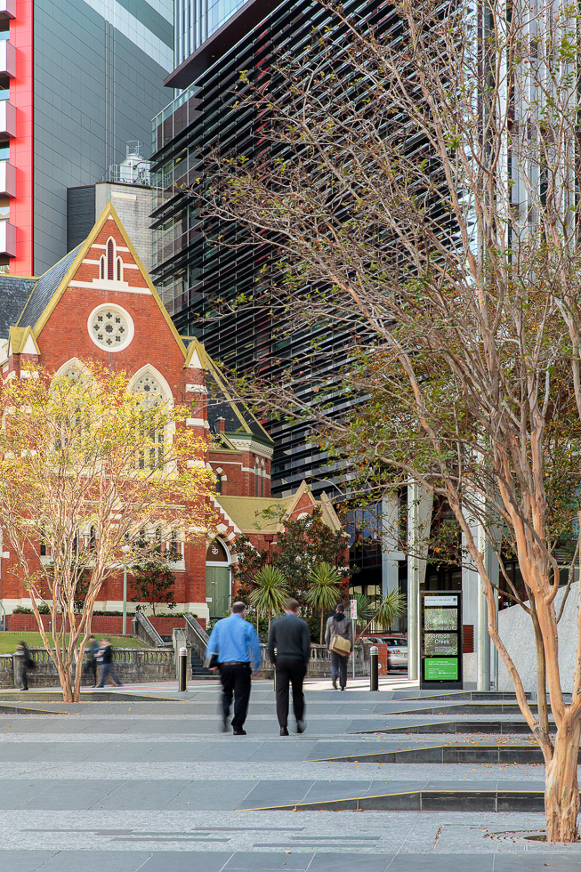 King George Square and the Albert Street Uniting Church