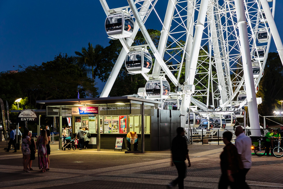 Destinations travel and tourism photography: Wheel of Brisbane