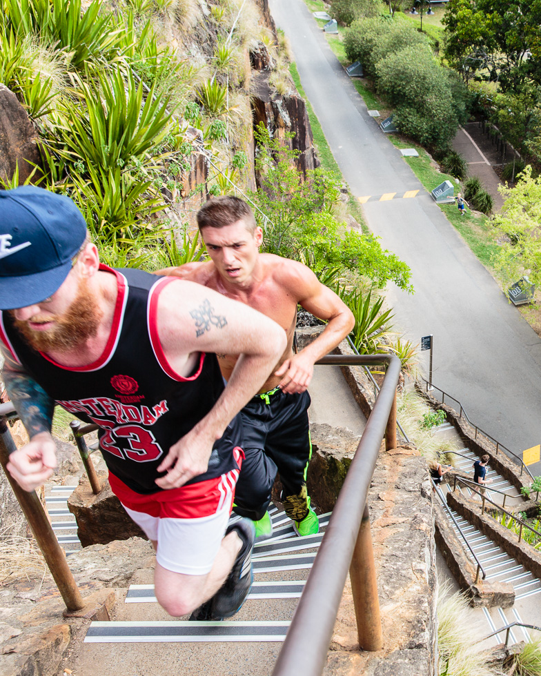 Stair climb fitness photography