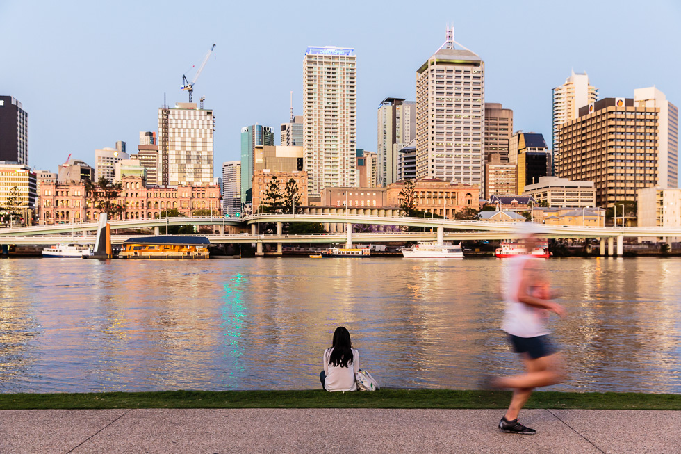 Destinations travel and tourism photography: Brisbane River and