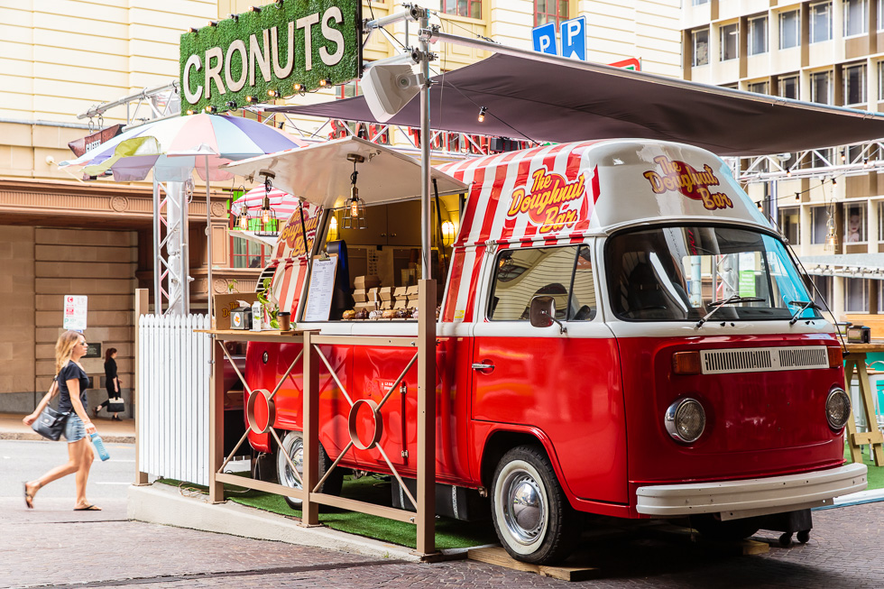Food and hospitality photography: Cronuts - The Doughnut Bar
