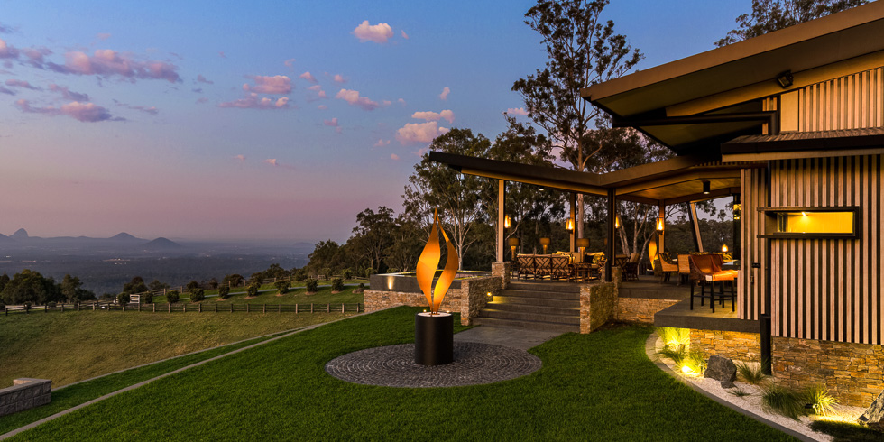Residential architecture photography: Luxe Lodge and Glass House