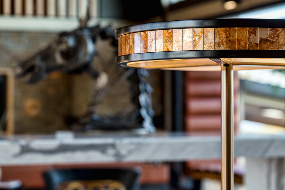 Residential interior design photography: Luxe Lodge dining table