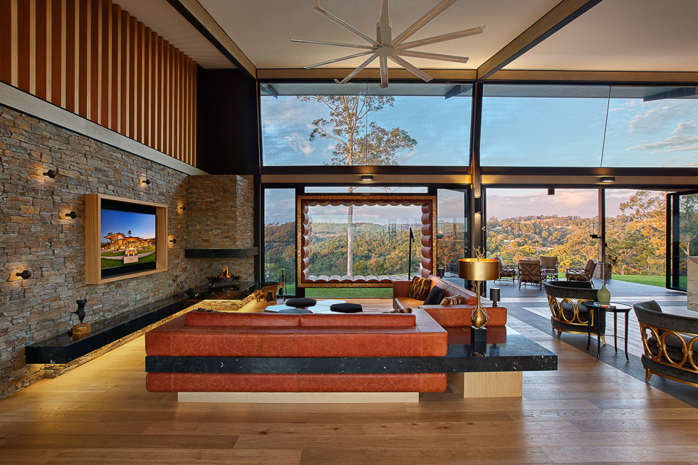 Residential interior design photography: Luxe Lodge lounge