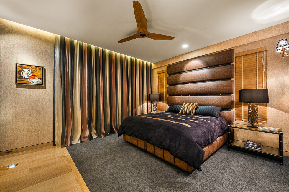 Residential interior design photography: Luxe Lodge second bedro