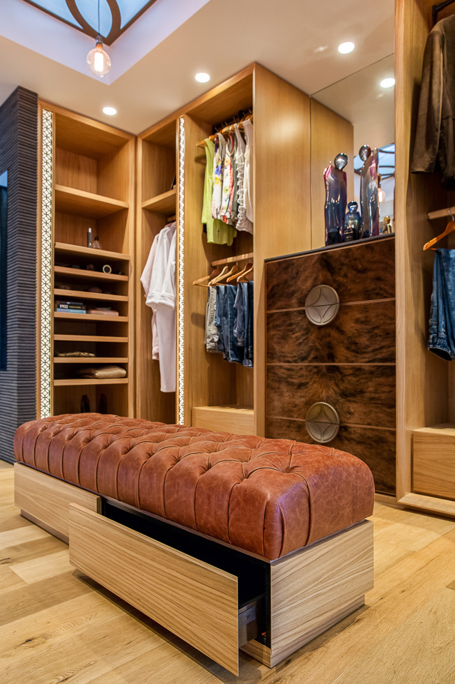 Residential interior design photography: Luxe Lodge master suite