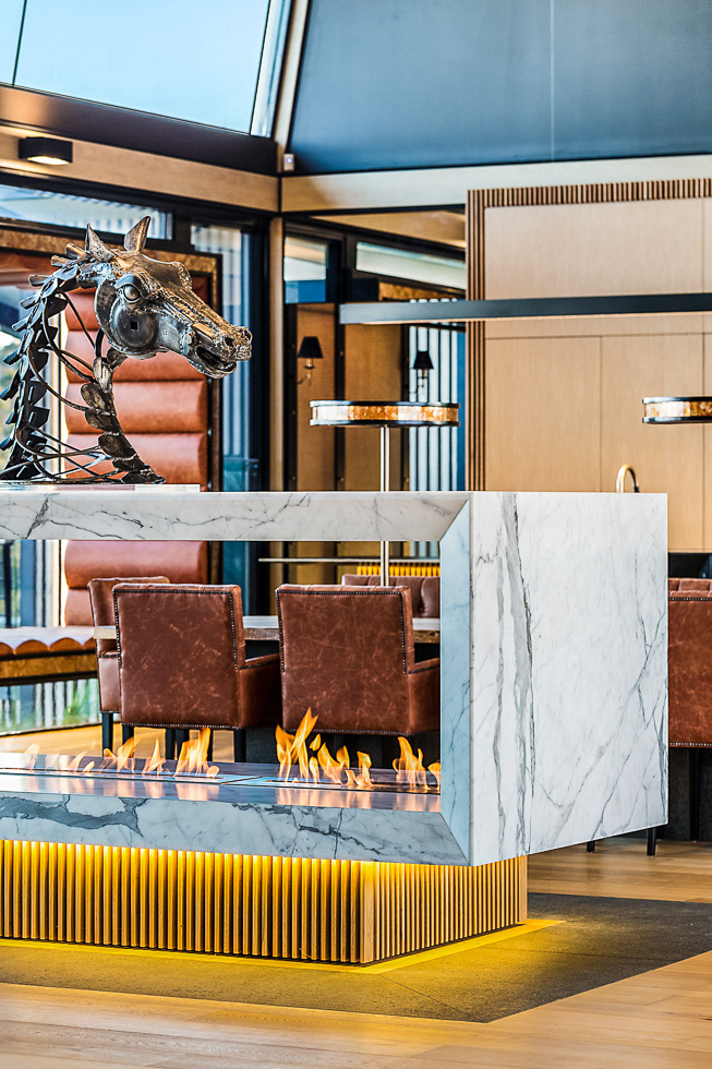 Residential interior design photography: Luxe Lodge rotating fir