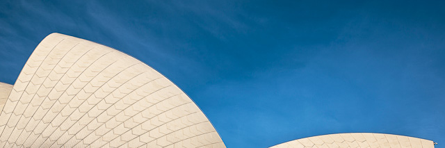 Abstract of the sails of the Sydney Opera House