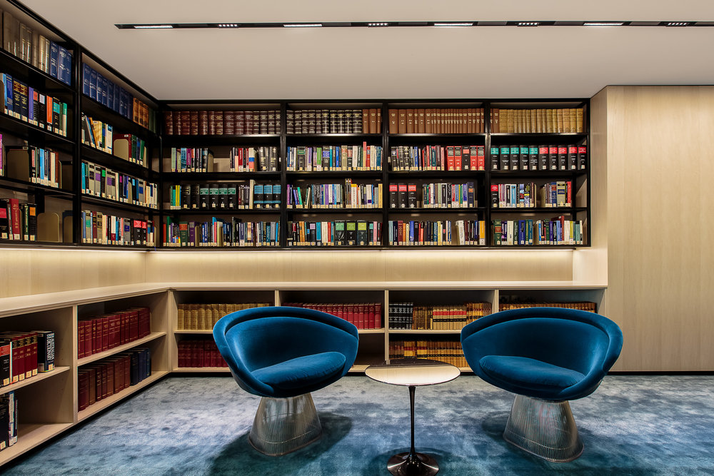 Knowledge centre at Corrs Chambers Westgarth, Brisbane, for comm