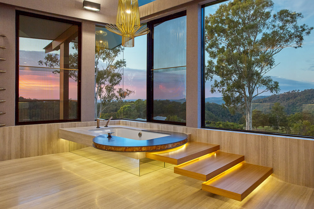 Luxe Lodge master suite bath for luxury residential architectura