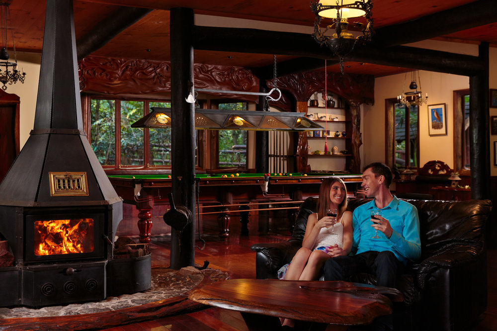 Couple relaxing at Secrets On The Lake in Montville in the Sunsh