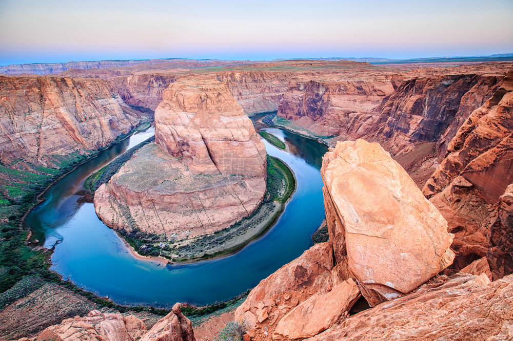 Rock-shape repetition at Horseshoe Bend