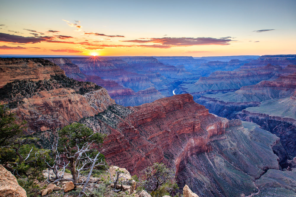 Sunset over the Grand Canyon from Hopi Point