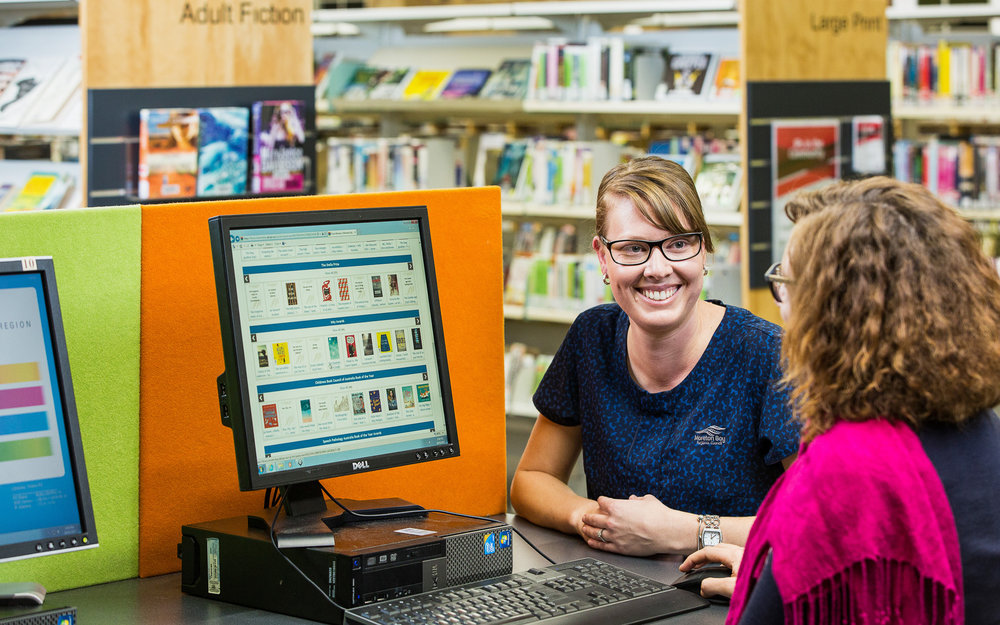 Lifestyle photography at Burpengary Library for Moreton Bay Regi