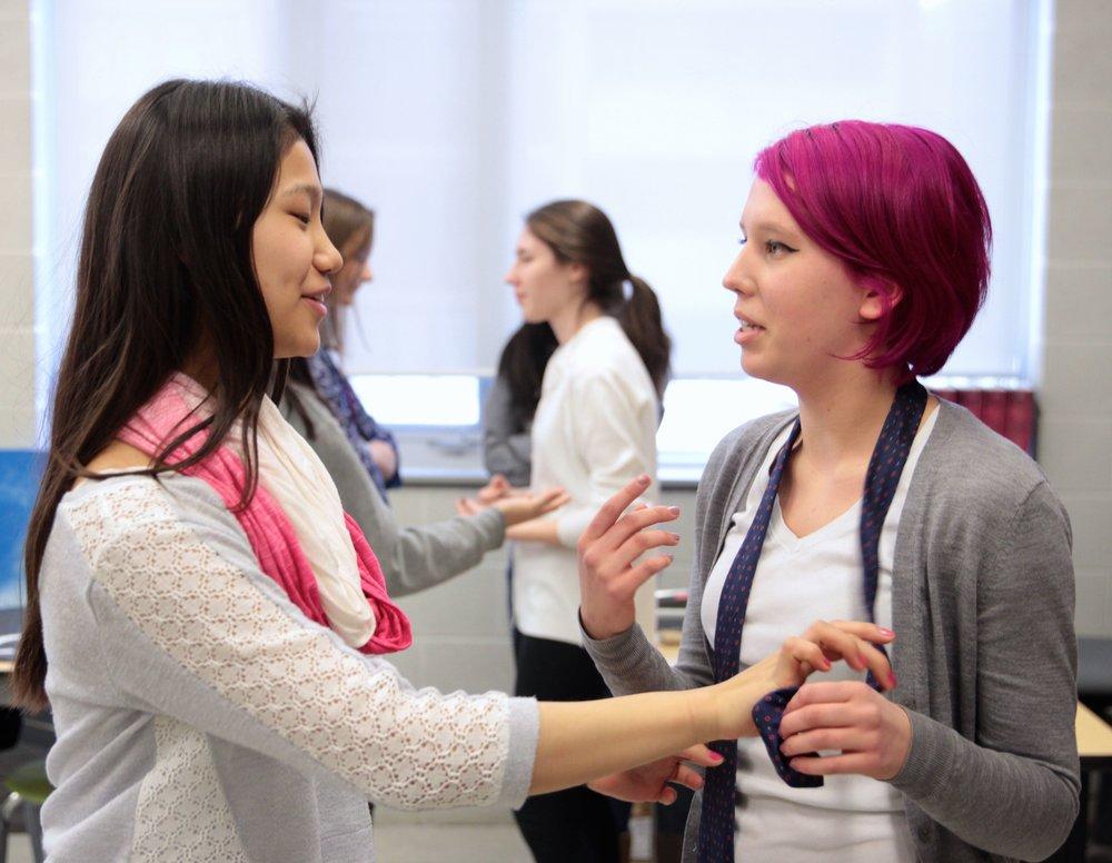 Youth workshop participants