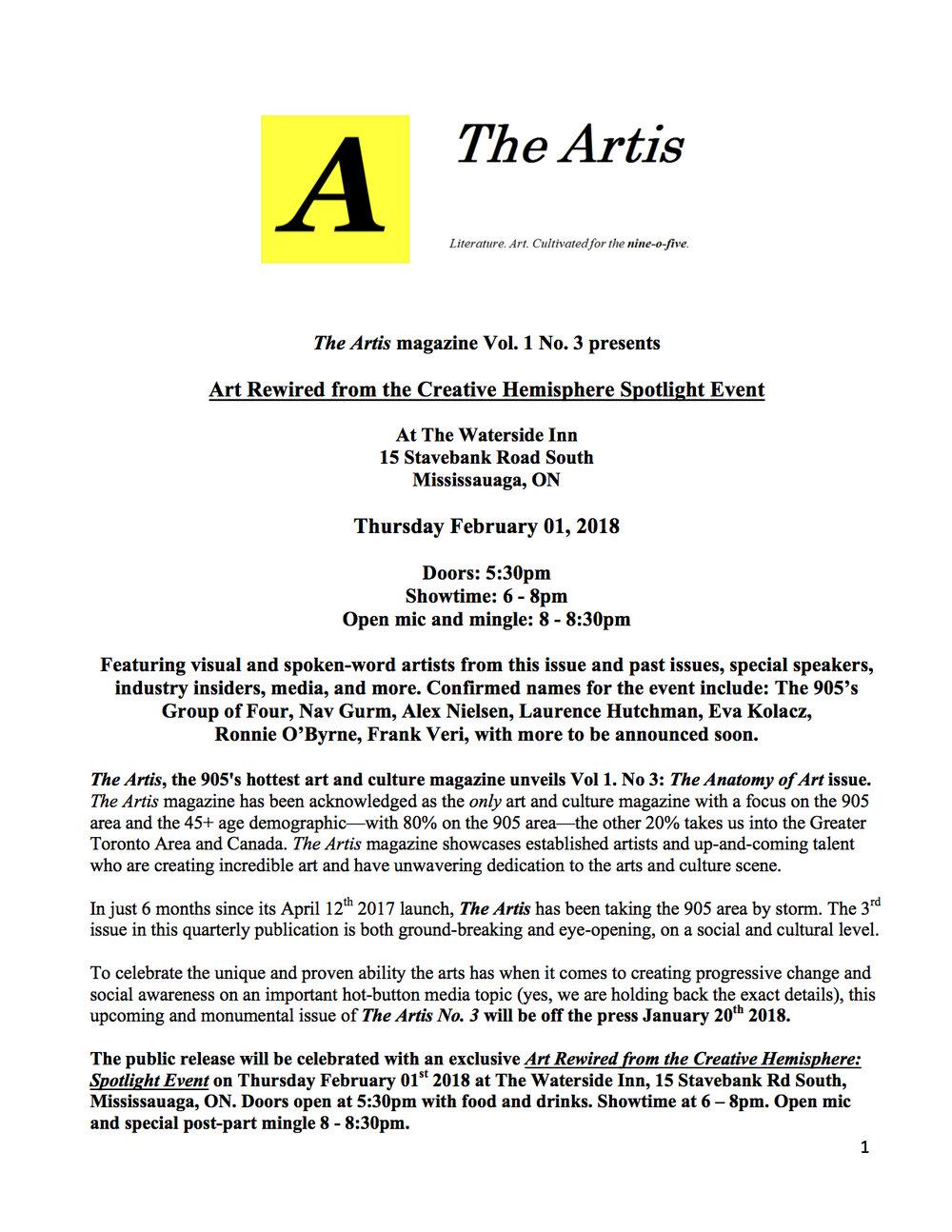 Artis 3 press release pg 1 of 2.jpg